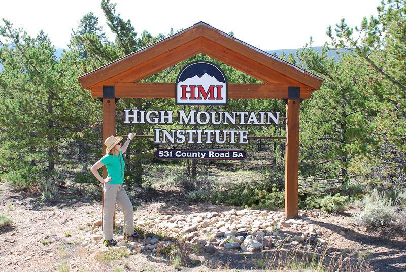 Entrance to High Mountain Institue on Colorado 5A.