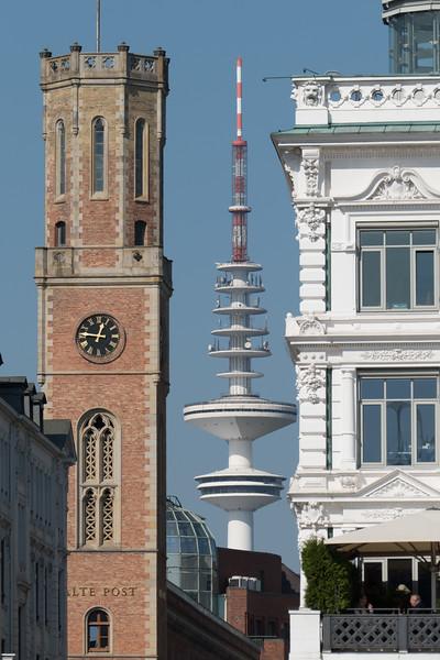 Innenstadt Hamburg als Post Fernsehturm