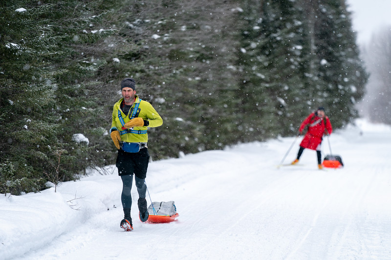 Scott Hoberg both won this year's race and set a new course record in 30hr 45min.