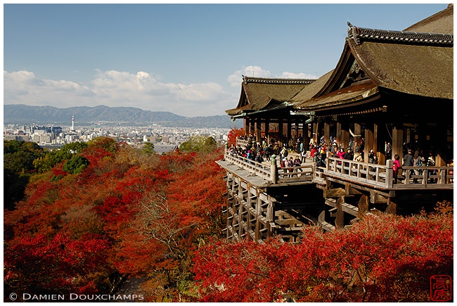 Kiyomizu-dera with autumn foliage