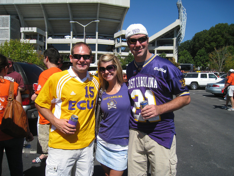 9/18/2010 ECU @ VT - Jon, Jen, Preston