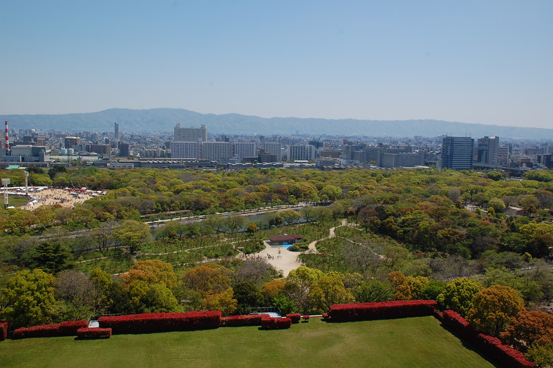 The view east from Osaka Castle
