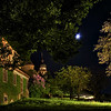 Romantic trench at night