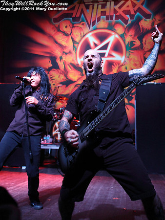 Anthrax <br> November 11, 2011 <br> The Palladium - Worcester, MA <br> Photos by: Mary Ouellette