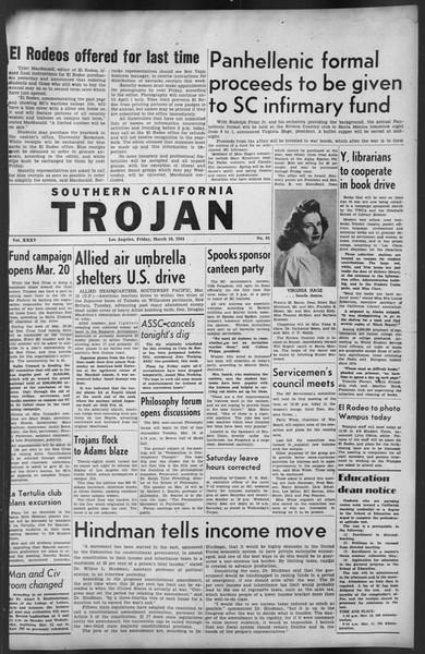 The Trojan, Vol. 35, No. 91, March 10, 1944