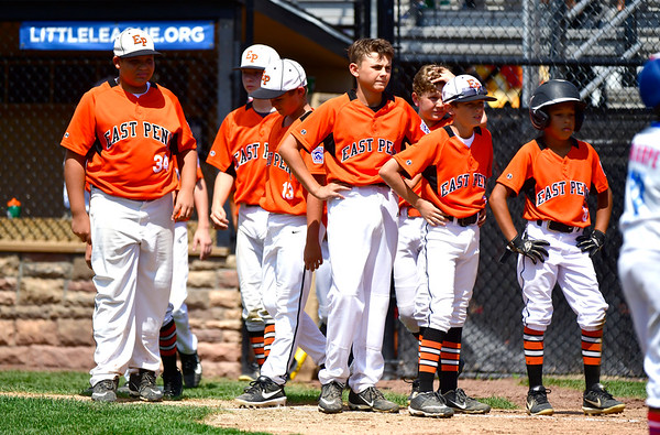 8/4/2019 Mike Orazzi | Staff Members of the East Pennsboro Little League team after a 1-0 loss to New Jersey in their opening round game of the Little League Mid-Atlantic regional in Bristol on Sunday.