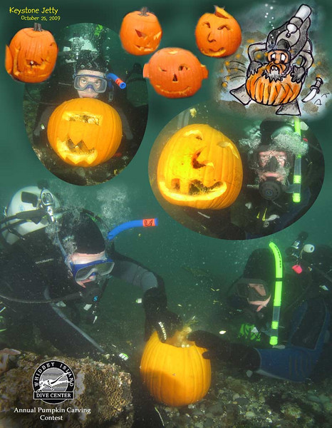 Annual Underwater Pumpkin Carving Contest. Keystone Jetty, October 25, 2009
