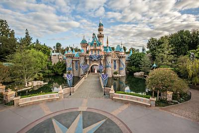 Becca & Mike Disneyland Castle