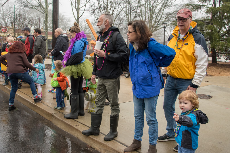 Young and old alike have something to excite them at the 2018 Mead Rd Mardi Gras parade in Decatur