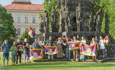 The Czechs support Tibet walking 2014 June