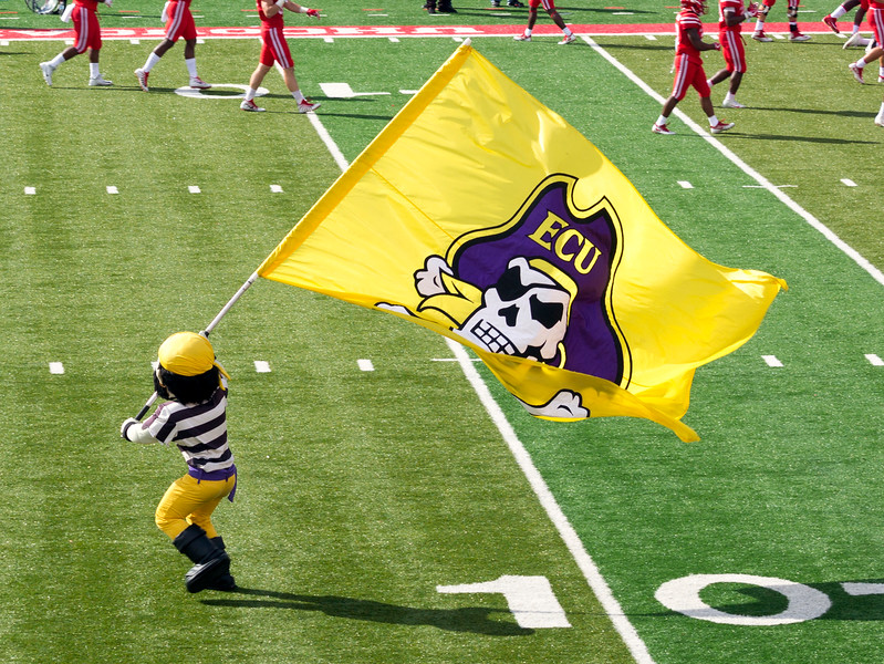 ... East Carolina U. has its own flags ...