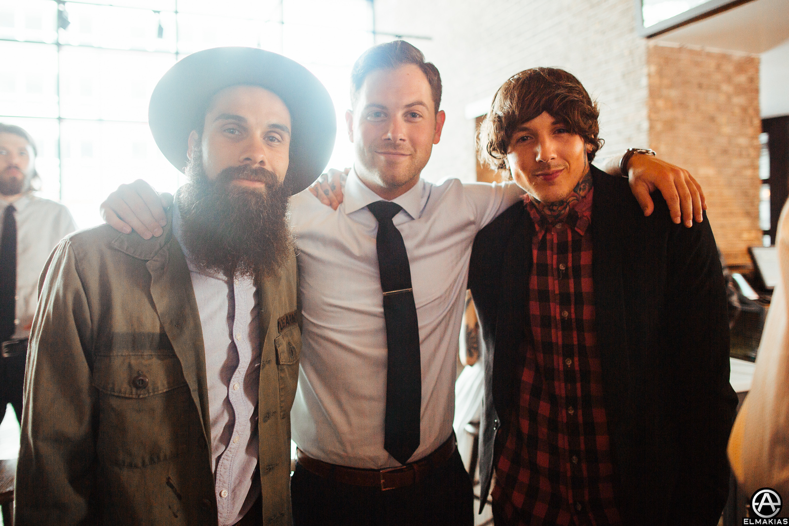 Jason of letlive., Kevin of A Day To Remember and Oli of Bring Me The Horizon