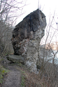 Giant Rock that fell from near the top of the Niagara gorge