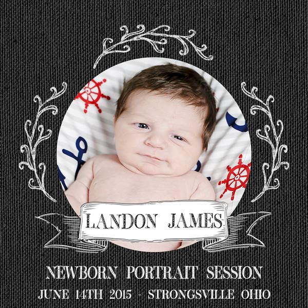 Landon James Newborn Portrait Session