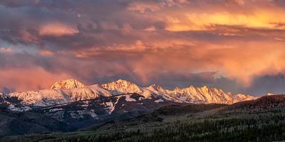 Gore Range Sunset from Muddy Creek, Colorado