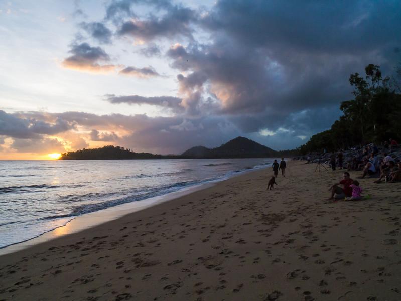 Looking back down Kewarra Beach at sunrise