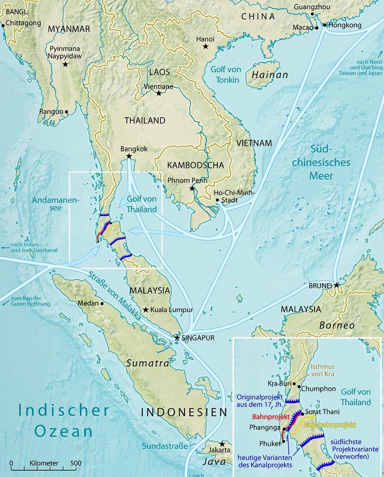 Thai Canal Map