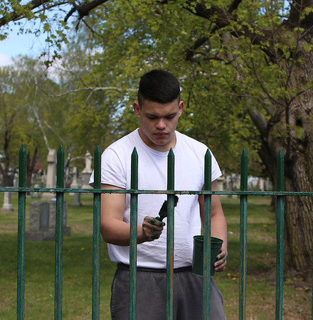 Cemetery fence painter 050520