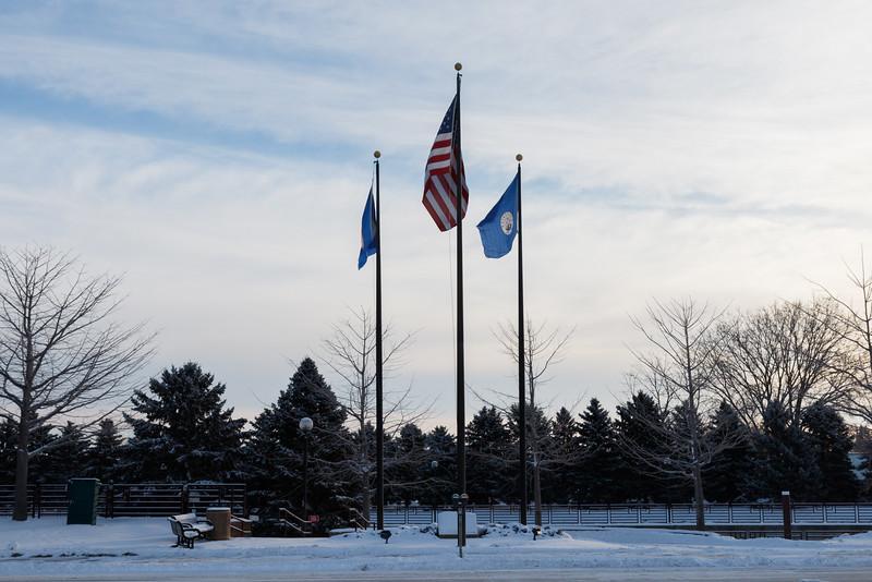 Flags at Hazama