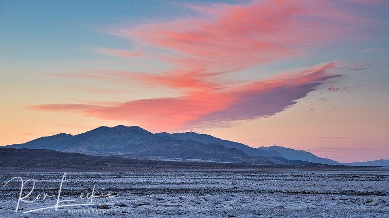 Death Valley, California Sunrise over Schwaub Peak