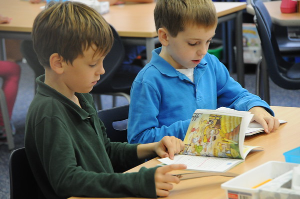 Second Graders Tackle Tricky Words in Reading