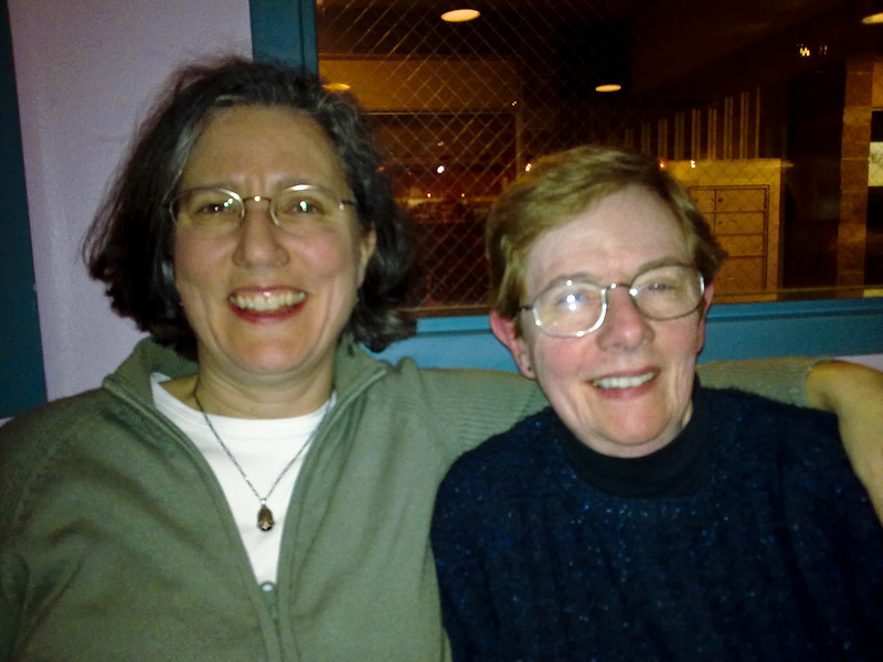 Seattle - March 2009 Deb and Rose in Nokia flash mode