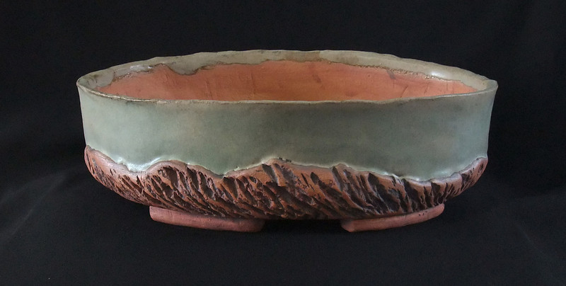 "#746 12"" x 8"" oval, 3"" deep, 4"" tall"