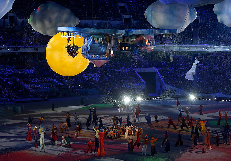 . Performers during the Closing Ceremony at Fisht Olympic Stadium for the 2014 Winter Olympics in Sochi, Russia on Sunday, Feb. 23, 2014.  (Nhat V. Meyer/Bay Area News Group)