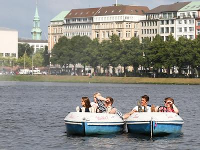 2013 08 10 Alster bei sonnigem Wetter Hamburg