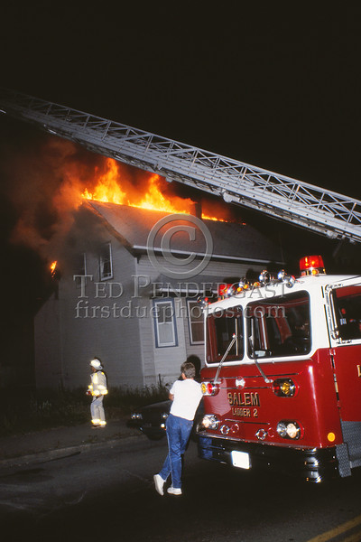 June 12, 1987 - Salem,MA - Working Fire on Bridge St