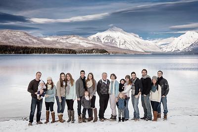 Family Photo at Lake McDonald