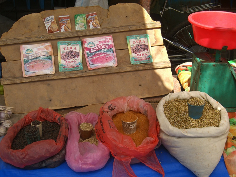 Spices at Market - Khiva, Uzbekistan