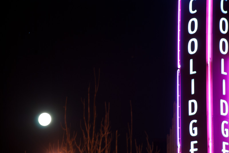 The obligatory Coolidge Corner night photography shot, the theater's neon.