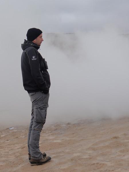 Yann at Námafjall sulfur mud pools
