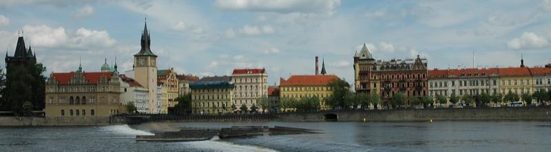 Buildings at the Vltava River - Prague, Czech Republic