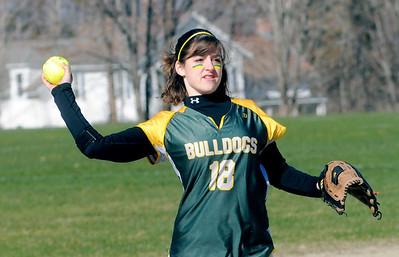 2012 BBA Varsity Softball vs Mill River photos by Gary Baker