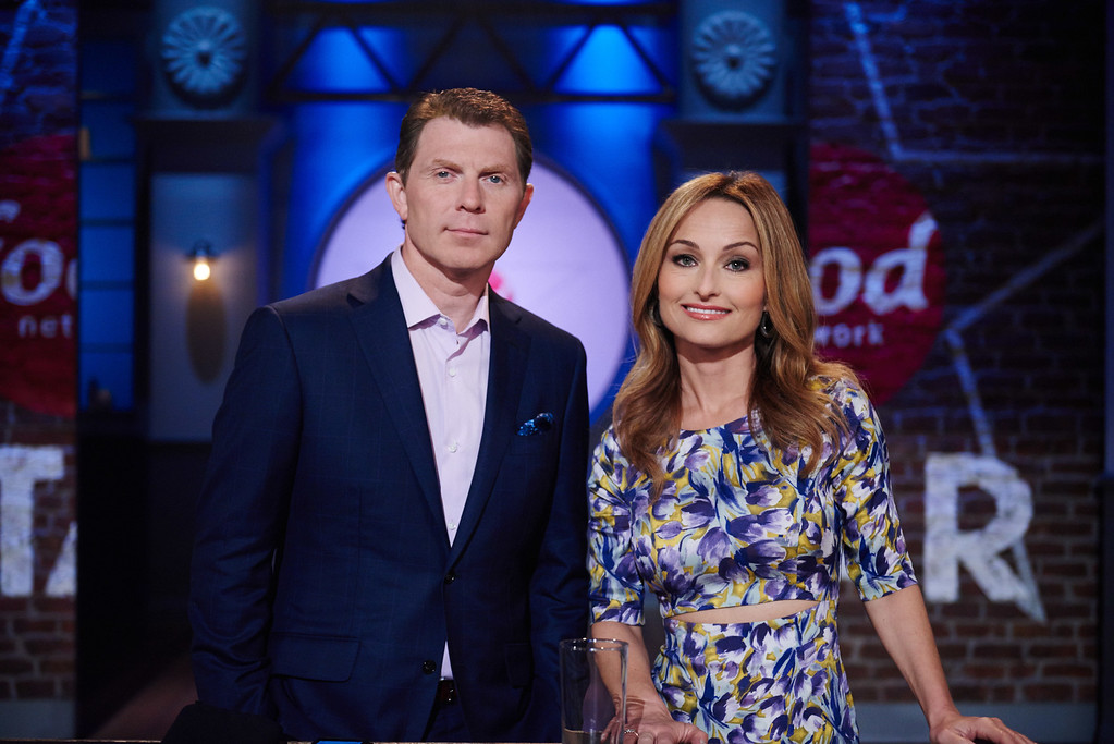 . FOOD NETWORK BOBBY FLAY AND GIADA DE LAURENTIIS.  (PRNewsFoto/Food Network)