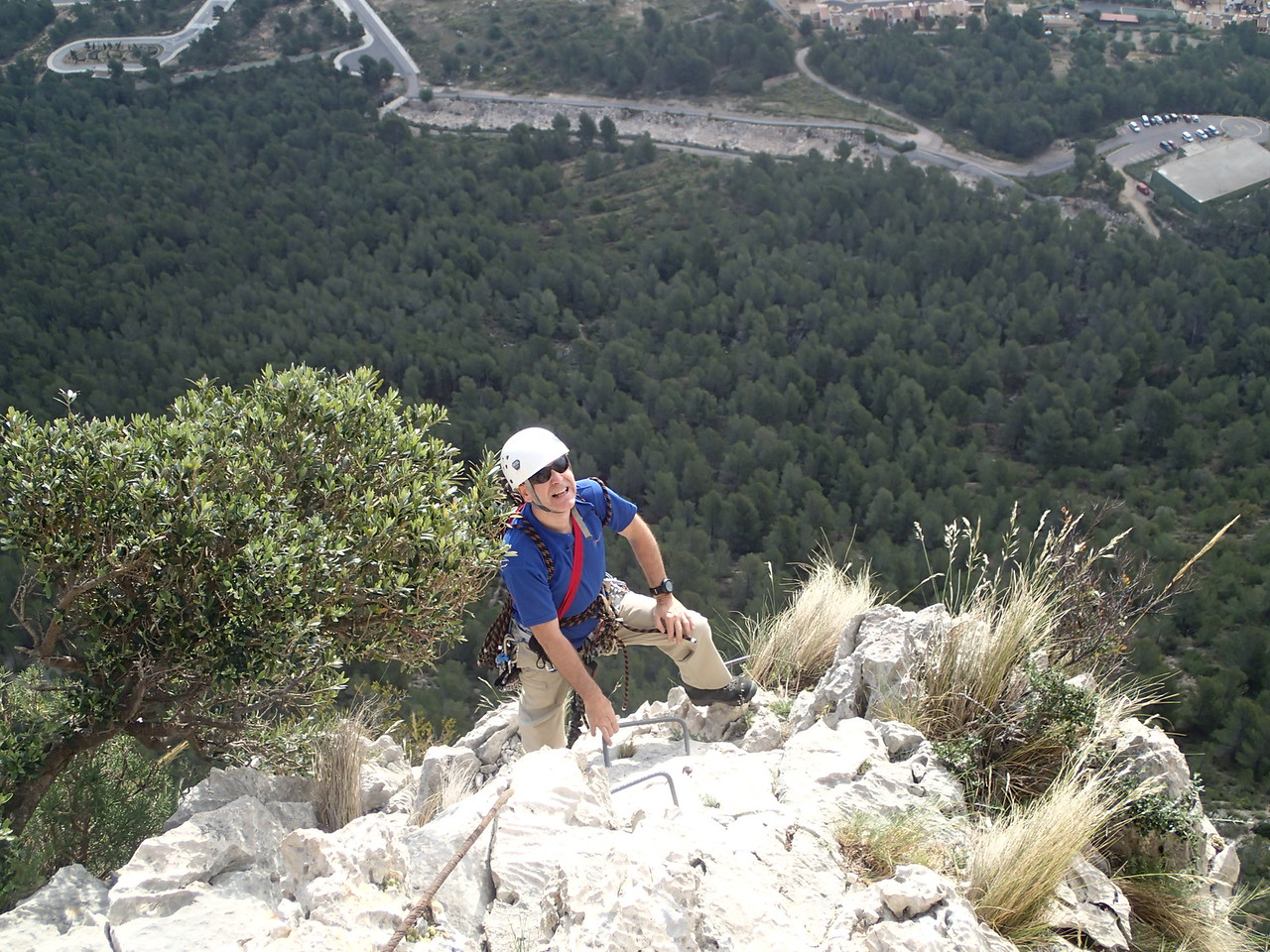 Graham near the finish of the Ponoch Via Ferrata