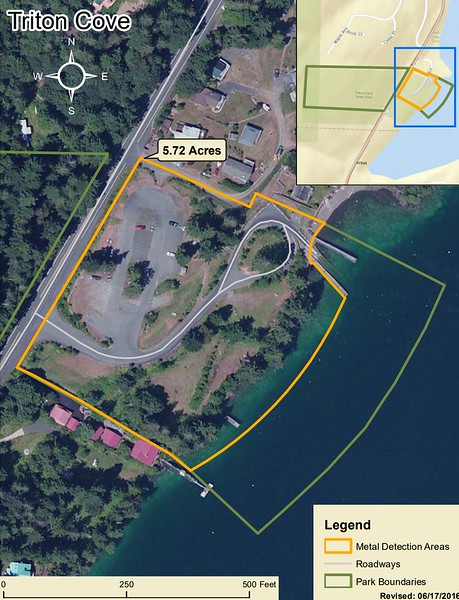 Triton Cove State Park (Metal Detection Areas)