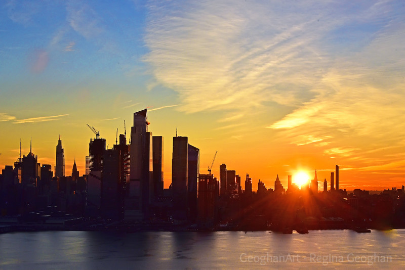 NYC_New Year's Day Skyline Sunrise