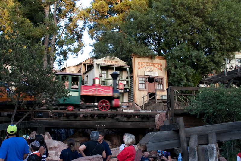 2009 Thunder Mountain ride near loading zone (which is above/behind me as I'm taking this photo).