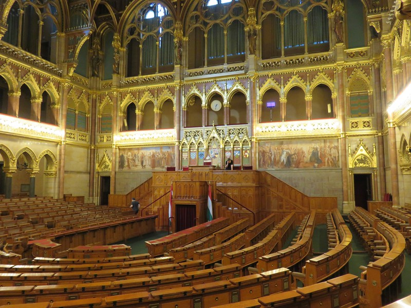 inside ornate parliament building