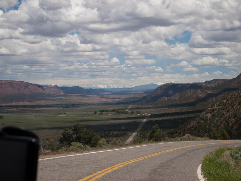 Paradox Valley.  You can see the road for miles