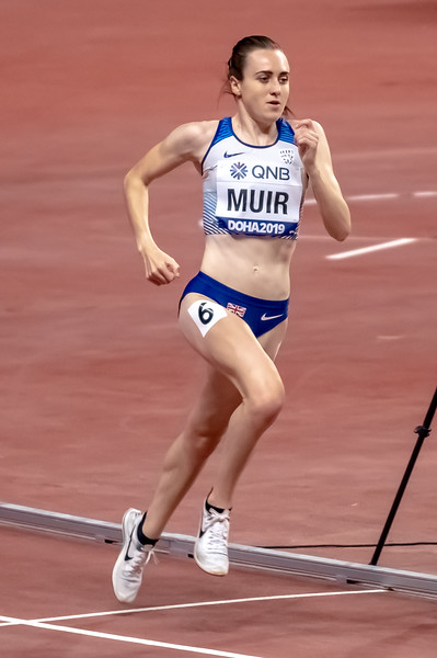 Laura Muir competes in the Women's 1500 metres final during day nine of 17th IAAF World Athletics Championships Doha 2019 at Khalifa International Stadium on October 05, 2019 in Doha, Qatar. Photo by Tom Kirkwood/SportDXB