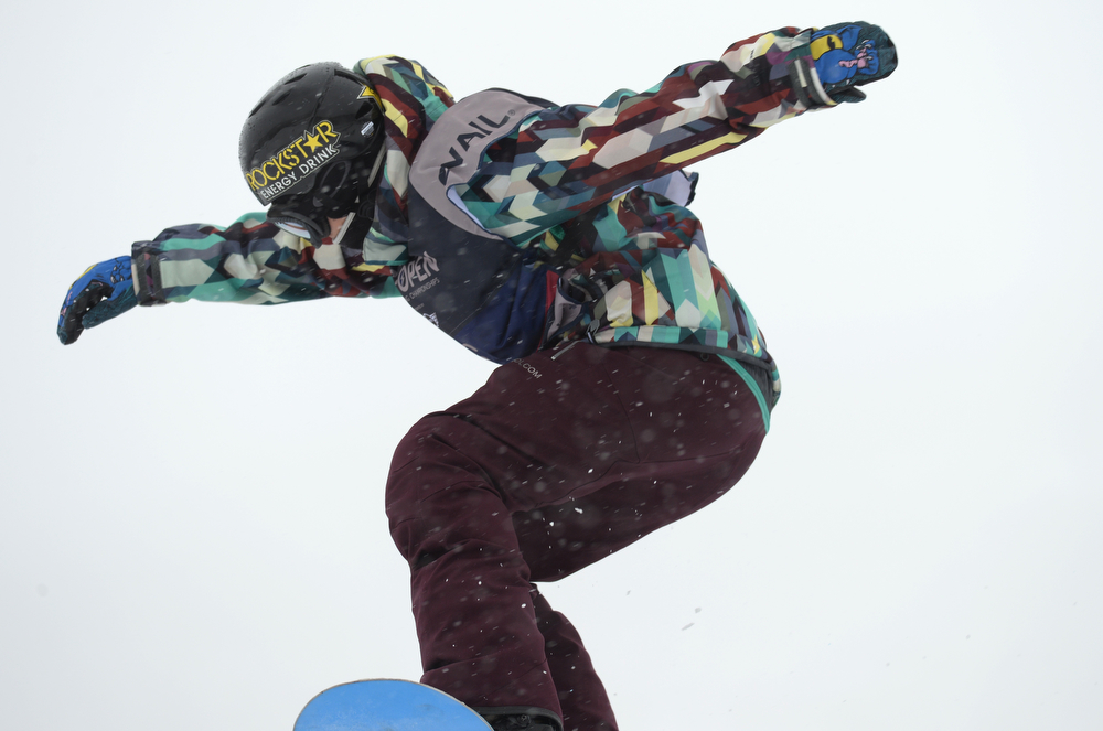 . Cheryl Maas of Nederland is in action during the women\'s slope style final of the Burton U.S. Open. Vail, Colorado. March 7. 2014. (Photo by Hyoung Chang/The Denver Post)