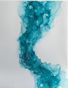 """""""Wave"""" (alcohol ink) by Iryna Bondarchuk"""