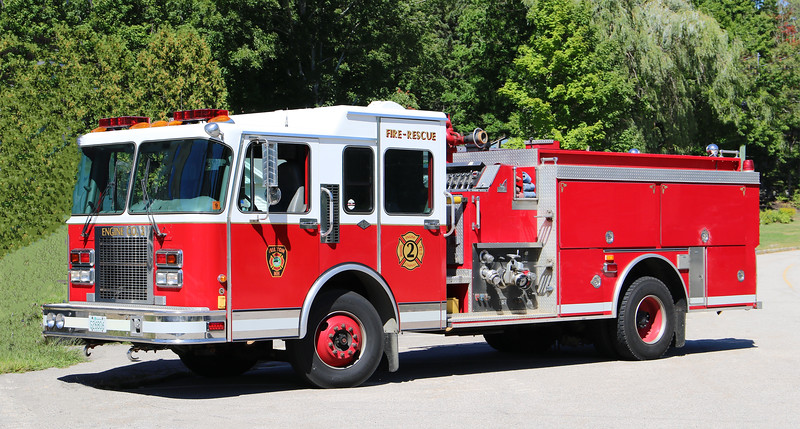 Engine 2.  1995 Spartan / Smeal.  1500 / 1000 (Ex Ashland, NH)