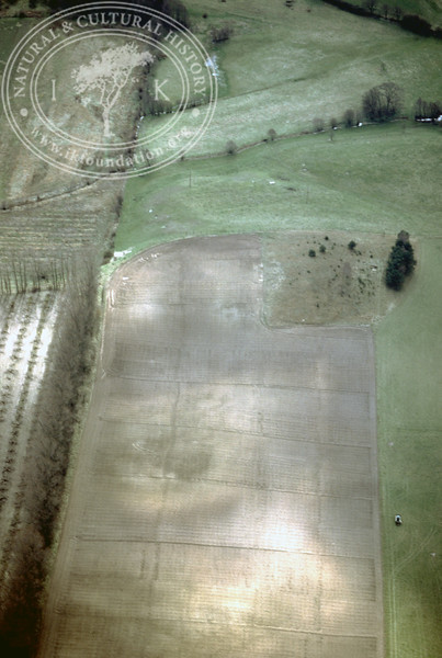 Farmland east of Ravlunda old distillery - with plantations and prehistoric remains (2 April, 1989). | LH.0488