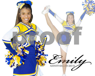 Nativity Knights Cheerleaders 2013-14