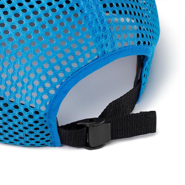 Organ Mountain Outfitters - Outdoor Apparel - Sportswear Headwear - OMO Performance Mesh Cap - Charcoal Cyan Detail.jpg